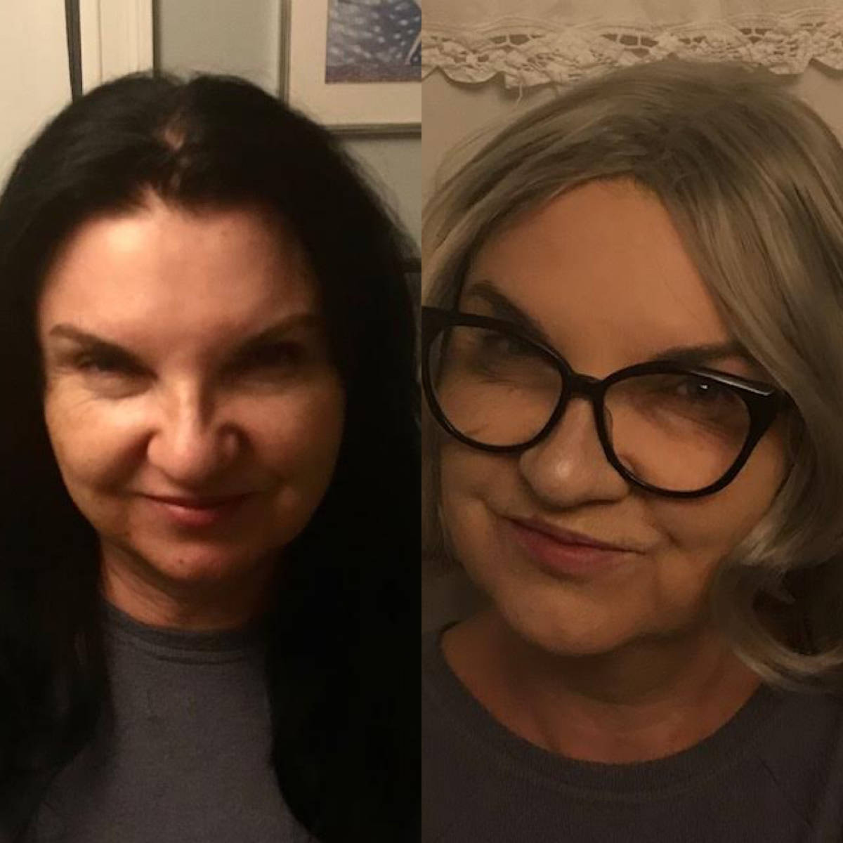 Cast member Liz shows us a before and after of her makeup.