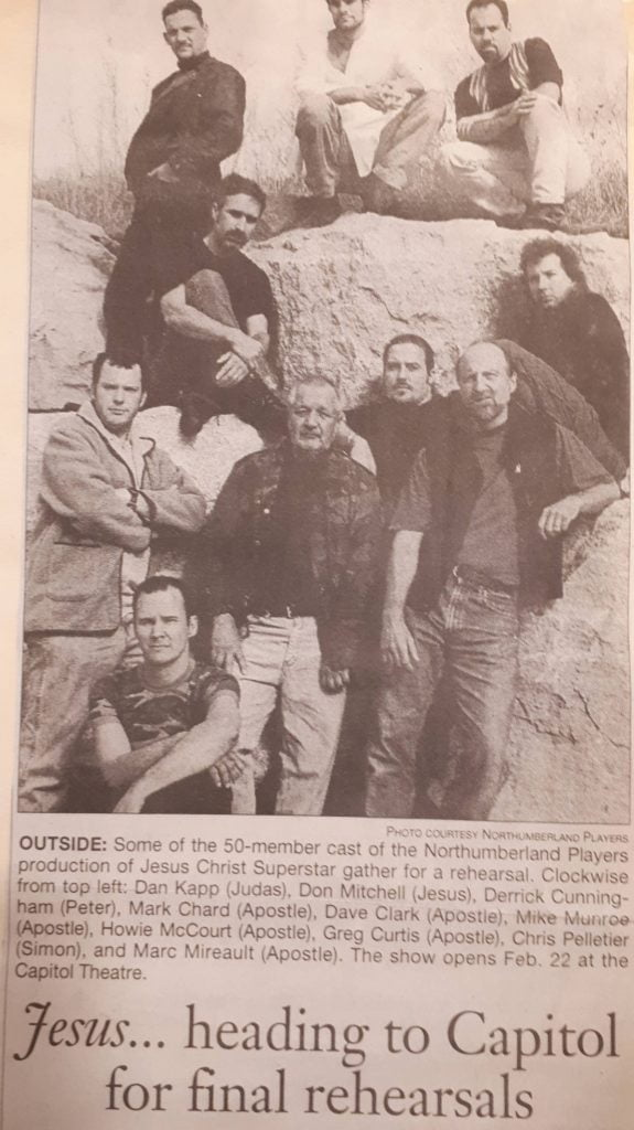 A newspaper clipping of an article about Jesus Christ Superstar.