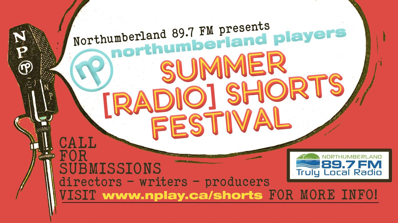 Banner for the call for submissions for the Summer Radio Shorts Festival
